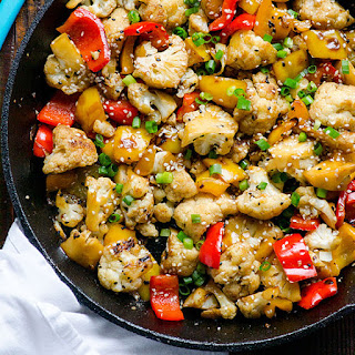 Sesame Cauliflower and Bell Peppers