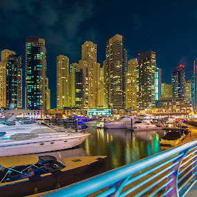 Evening Colors by Andy Arciga (www.arcigaandy.com) - City,  Street & Park  Skylines ( city, night, , Urban, City, Lifestyle )