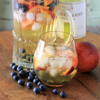 Peach Blueberry Sangria