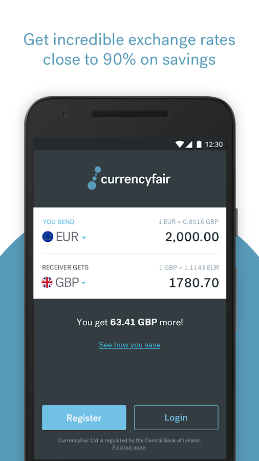 CurrencyFair Money Transfer- screenshot