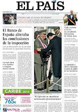 Photo: El Banco de España alteraba las conclusiones de la inspección y la crisis lleva a las familias a comprar menos comida, en la portada de EL PAÍS, edición nacional, del lunes 7 de enero de 2012 http://cort.as/374K