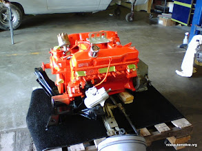 Photo: 1969 383 engine with manual steering box. ready for installation