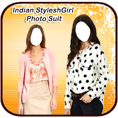 Stylish Indian Girl Photo Suit