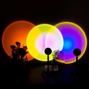 Lampa cu lupa videografie - efect Sunset