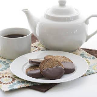 Chocolate Dipped Hazelnut Cookies.