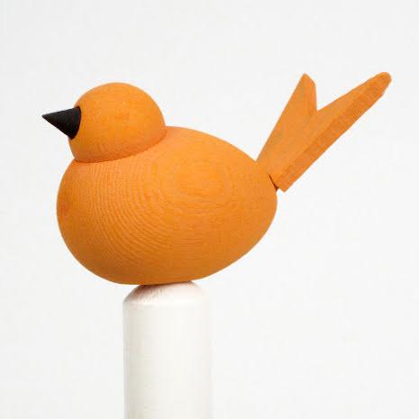 Fågel till hållare orange