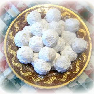 Pfeffernusse Spiced Snowball Cookies