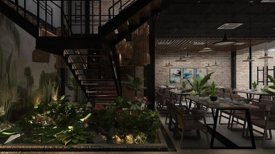 thiết kế nhà hàng dẹp, giá hợp lý 3