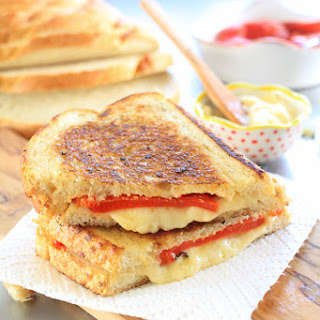 Perfectly Crispy Pimento Grilled Cheese.