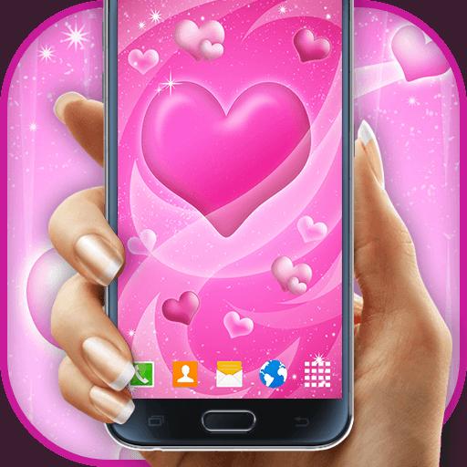Valentine PinkHearts Wallpaper