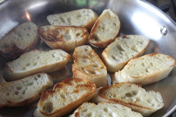Place bread into a well-oiled skillet on med-high heat. Brown both sides then reduce...
