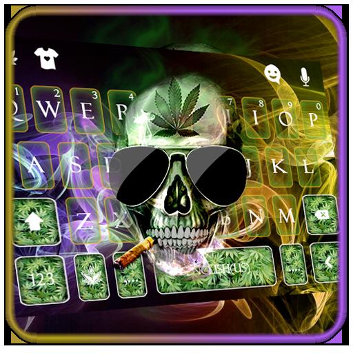 Smoking Skull Keyboard Theme Icon