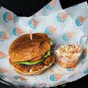 Handpacked Salmon Burger