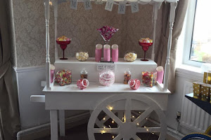 a white Wedding Sweet Stand