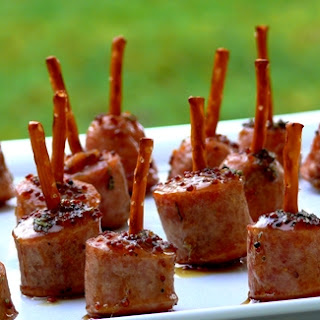 Maple-Glazed Apple-Chicken Sausage Bites Recipe