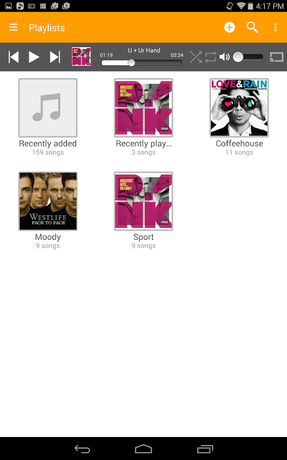 abMusic (music player)- screenshot