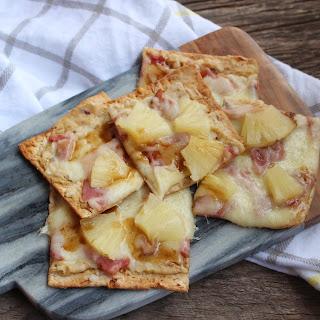 Flat Bread Hawaiian Hummus Pizza.