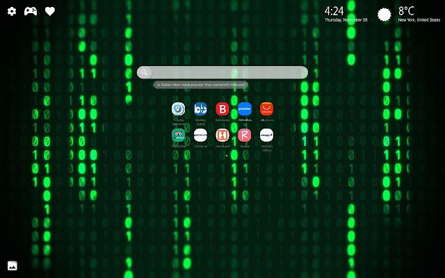 Matrix Wallpaper HD New Tab Theme