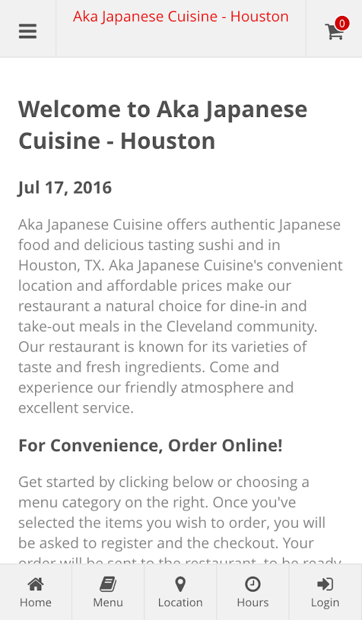 Aka Japanese Cuisine - Houston- screenshot