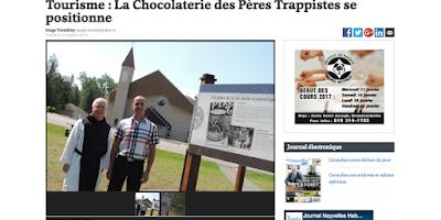 La Chocolaterie des Pères Trappistes se positionne Nouvelles Hebdo