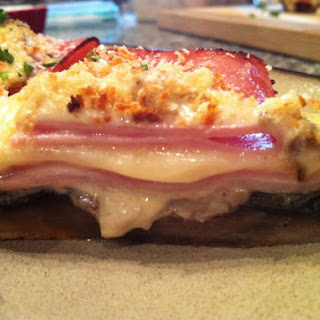 Portobello Cordon Bleu with Dijon Cream Sauce