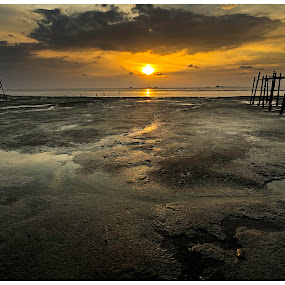 Life's too short to Wait by Coolvin Tan - Landscapes Sunsets & Sunrises ( village, moment, sunset, sea, landscape )