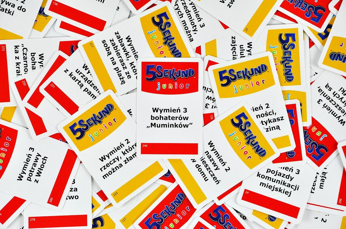 5 sekund junior karty z pytaniami