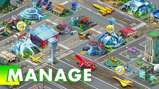 ApkMod1.Com Airport City Airport City + ​​(Mod Money) for Android Game Simulation