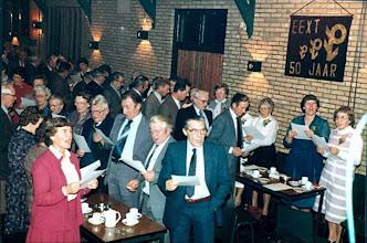 Photo: Blik in de zaal: midden Bruno Kruit, Geert Niemeijer, Sake Graafstra enz.