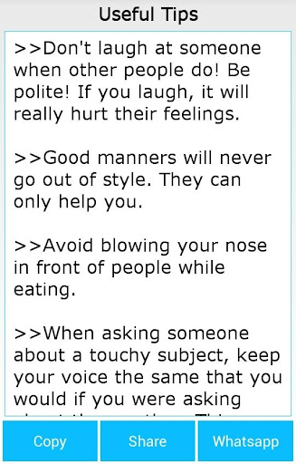 How To Have A Good Manners
