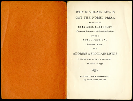 Why Sinclair Lewis Got the Nobel Prize