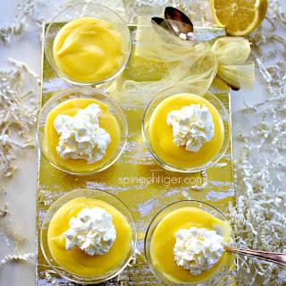 Low Carb Lemon Curd Dessert.