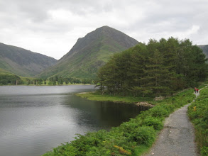 Photo: We round the far end of Buttermere.