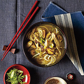 Chicken-Udon Soup.