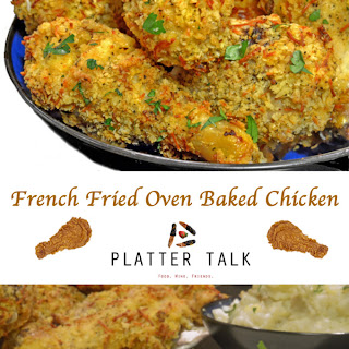 French Fried Onion Ring Baked Chicken
