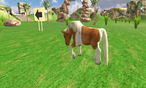 可爱的马小马乘坐模拟器