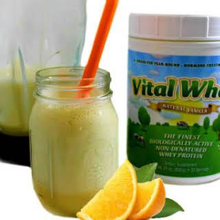 Super Healthy, Orange Dreamsicle Protein Shake.