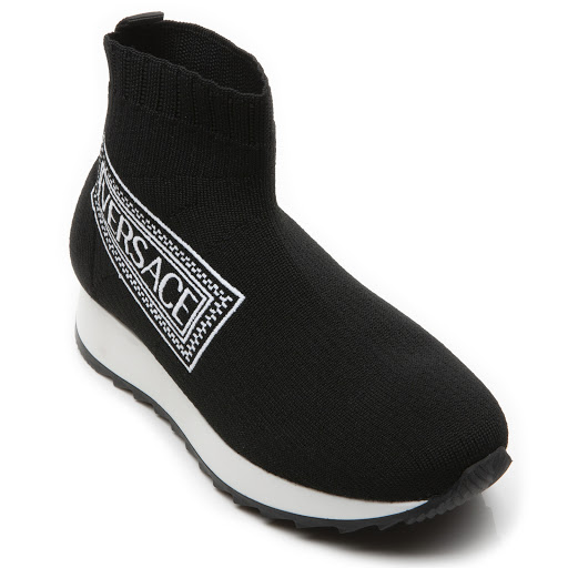 Thumbnail images of Young Versace Logo Sock Trainer