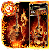 Fire Guitar Launcher Theme Android APK Download Free By Studio Five Inc