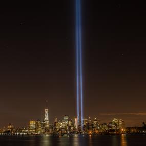 9-11 Tribute Lights by Werner Ennesser - Uncategorized All Uncategorized ( 9-11 tribute lights,  )