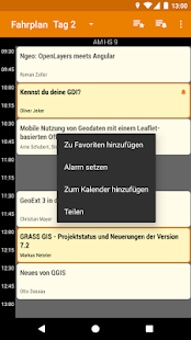 FOSSGIS 2017 Programm- screenshot thumbnail