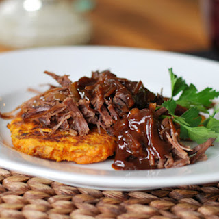Slow Cooker Beef Brisket with Bourbon Espresso Glaze.