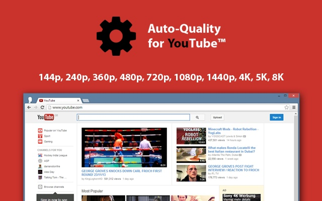 Auto Quality for YouTube™