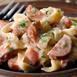 Simple Sausage & Pasta Alfredo