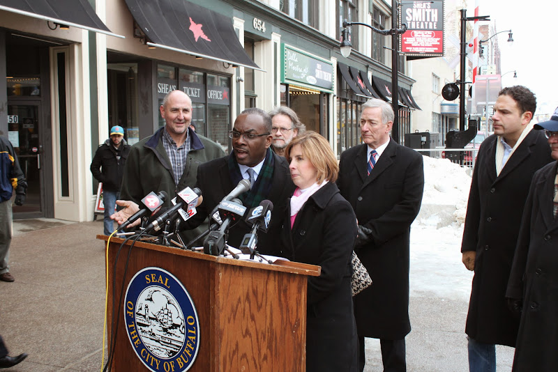 Photo: City of Buffalo Mayor Byron Brown with Kimberley Minkel