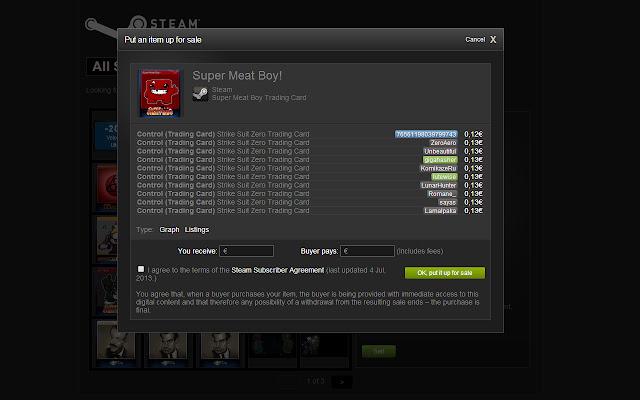 Steam inline listings