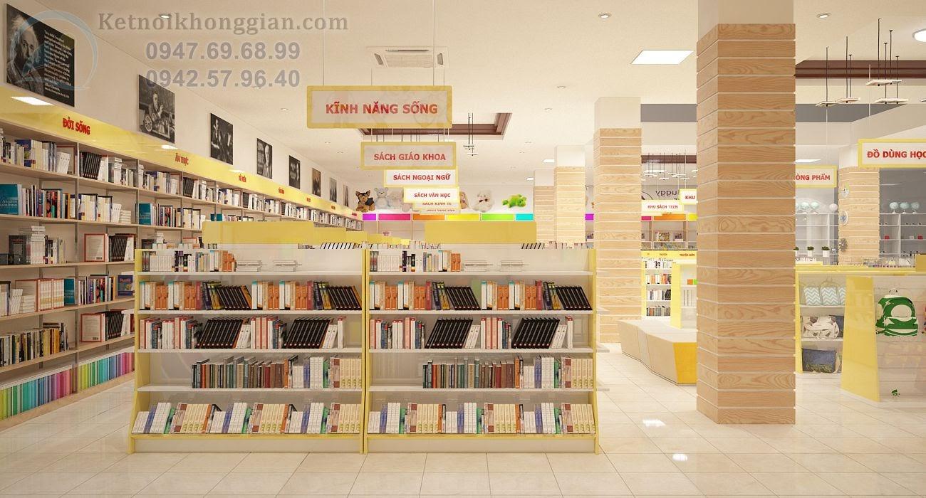 thiết kế nhà sách rộng rãi 400m2