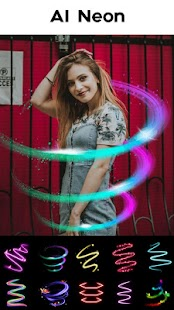 Foto editor & Collage foto - Neon Photo Editor Screenshot