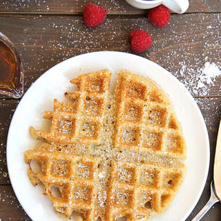 Vegan Crispy Belgian Waffles with Flax and Vanilla