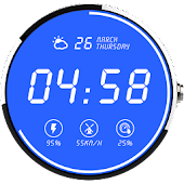 Digital Gleamy Watch Face